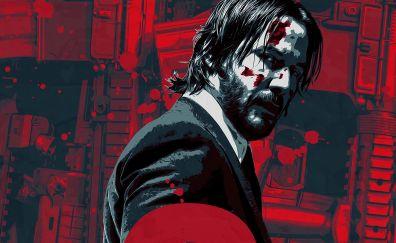 John wick: Chapter 2, Keanu Reeves art