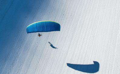 Aerial view of parachute
