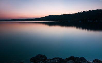 Lake Morat, sunrise, nature