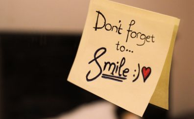 Don't forget to smile note