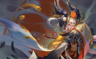Gu Huo Niao, Megami Tensei, anime girl