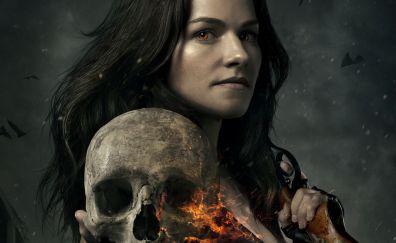 Van Helsing TV show, skull, Vanessa Helsing, Kelly Overton, actress