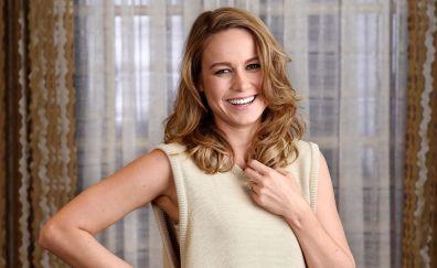 Blonde celebrity, Brie Larson, smile