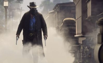Red Dead Redemption 2, video game, cowboy