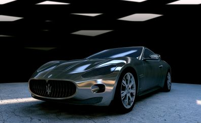 Maserati GT sliver car