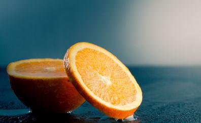 Fruit, orange slices, close up