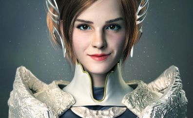 White fairy, fantasy, art