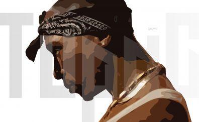 Tupac shakur, rapper, singer, art