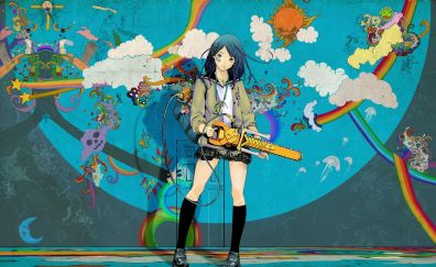 Girl with chainsaw anime
