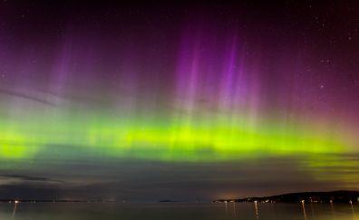 Aurora, northern lights, borealis, nature, night