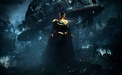 Injustice 2 video game, superman, superhero