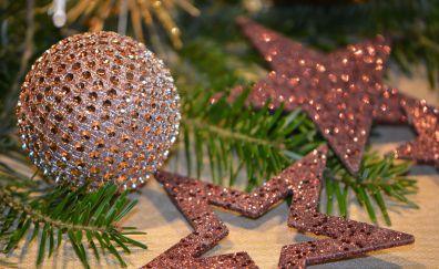 Christmas balls, Christmas, decorations, 2016, 4k