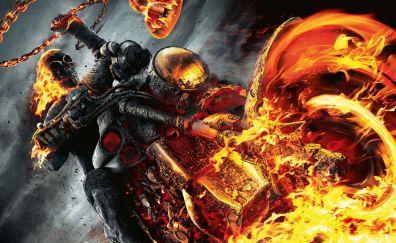 Ghost Rider: Spirit of Vengeance movie, fire, motorcyle