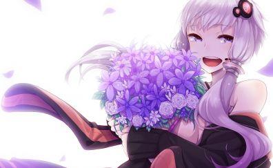 Yuzuki yukari, vocaloid, anime girl