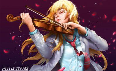 Beautiful Anime girl, blonde, Kaori Miyazono