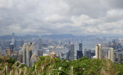 Hong Kong China skyscrapers