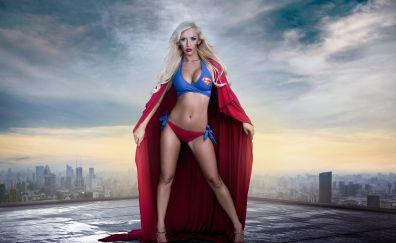 Supergirl, cosplay, hot model