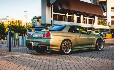 Nissan r34 skyline car