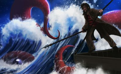 Fantasy, sea monster