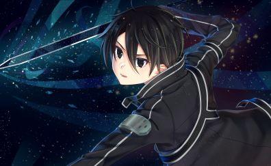 Kazuto Kirigaya, kirito, anime boy
