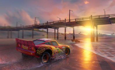 Cars 3, driven to win, beach, bridge, animation movie