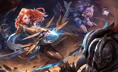 Gorgeous girls warrior fantasy artwork