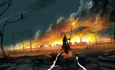 Fantasy artwork of warrior