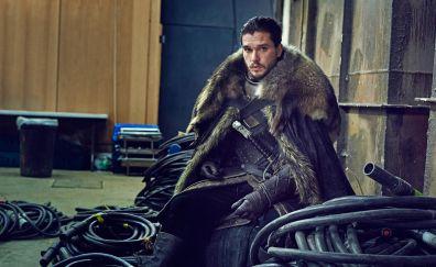 Game of thrones, TV show, on set, Jon Snow