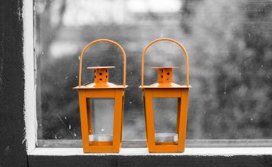 Lamps, lanterns, window