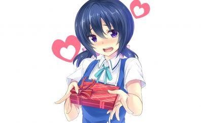 Funabori, D-Frag!, anime girl, gift