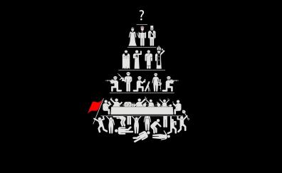 Politics hierarchy artwork