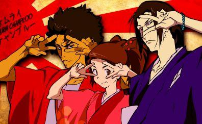 Jin, mugen, fuu of samurai champloo anime