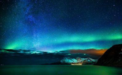 Alaska aurora lights