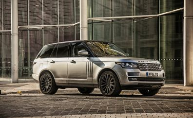 Range Rover silver SUV car