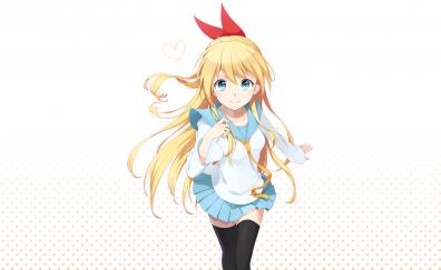 Blonde anime girl, Chitoge Kirisaki, Nisekoi