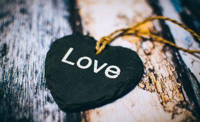 Heart, love text