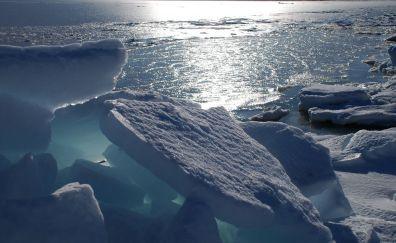 Icebergs of southern sea