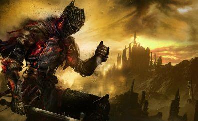 Dark souls 3 video game, dark warrior