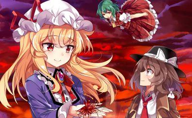 Yukari Yakumo, Touhou, blonde anime girls