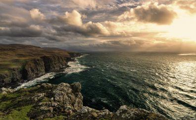 Sea coast, sea, landscape, nature
