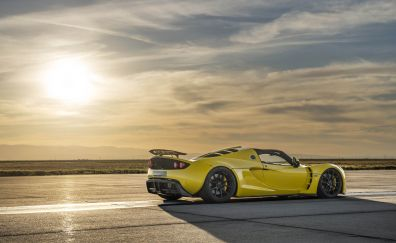Hennessey Venom GT, sports, side view, sunset