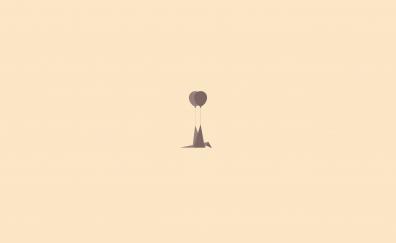 Minimal, Lazy bird , flight, balloon