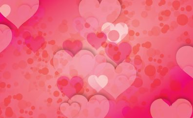 Hearts, postcard, photoshop