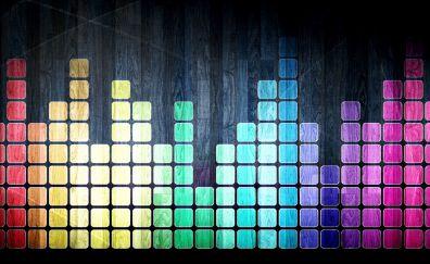 Colorful spectrum, equalizer, squares