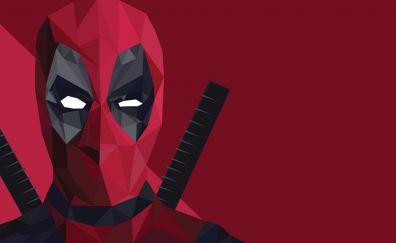 Deadpool low poly wallpaper hd