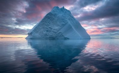 Iceberg in arctic sea