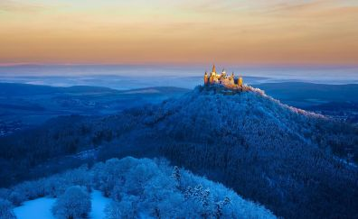 Hohenzollern Castle, architecture, landscape, skyline