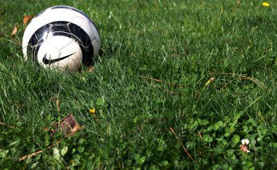 nike Soccer ball, grass field