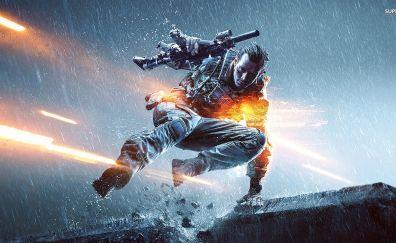 Battlefield 4 video game, soldier