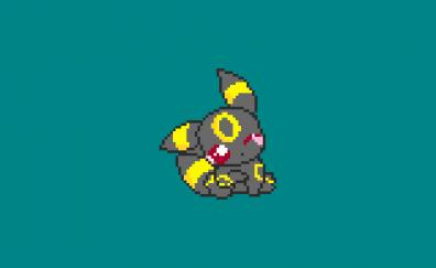 Pokemon, umbreon, pixel artwork